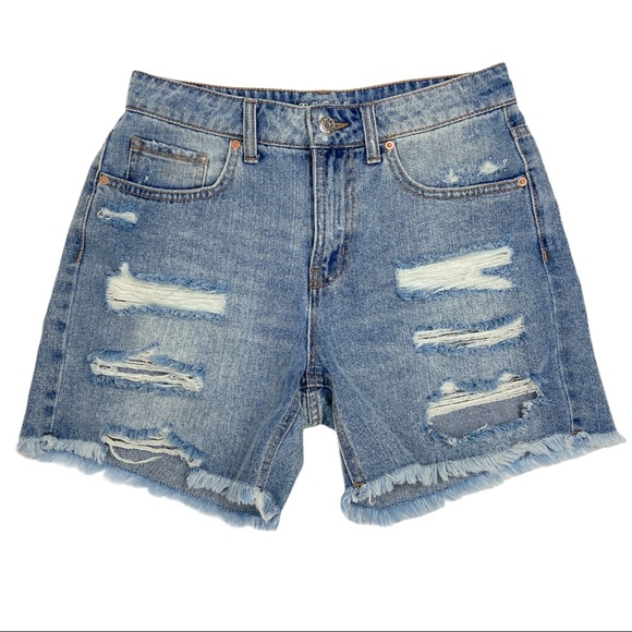 Wild Fable High Rise Distressed Jean Shorts